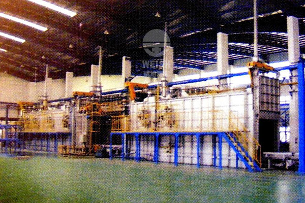 Color plate coating production line