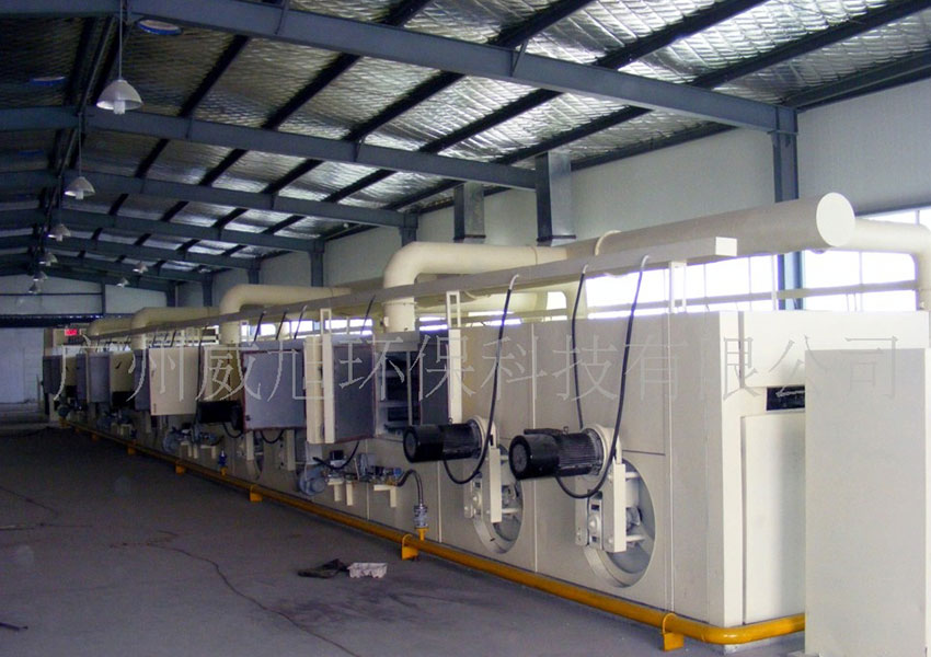 Tenter setting machine hot air heating system